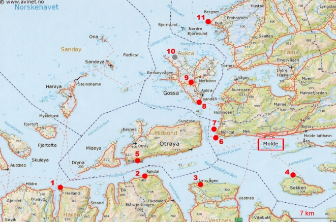 8 Carte Aalesund Molde