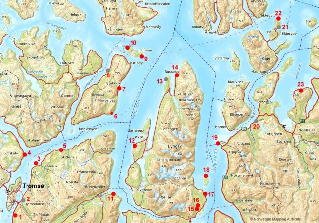 Carte5 Troms Nord