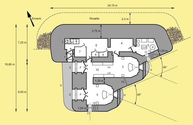 Casemate-STG-artillerie-plan-type